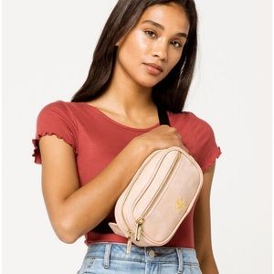 Adidas Light Pink Faux Suede Fanny Pack